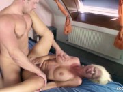 German Step Mom Nadja fuck with Young Boy After Family Party