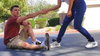 Skater Boy Fools And Fucks Little Asian Neighbor
