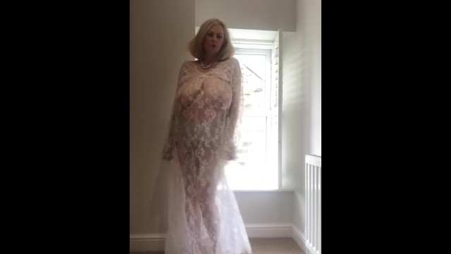 Pure young porn models - Annabels white sheer lace dress