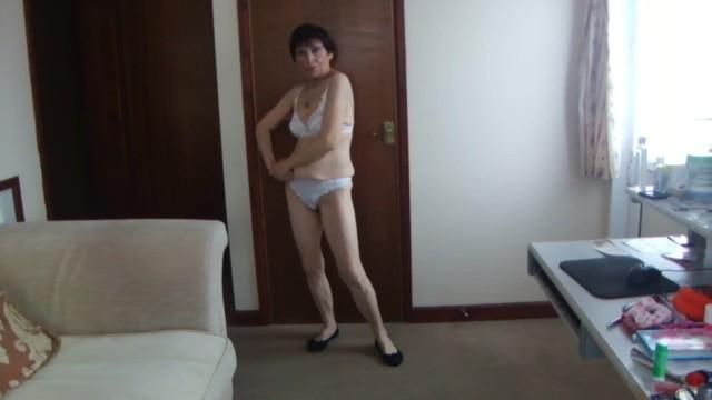 Sexy see through female underwear - Sexy hot transparent see through white underwear g-string thong dance nude