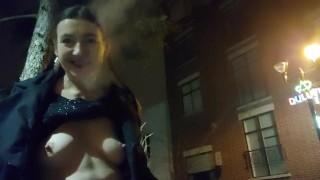 První porno film - Gypsy Dolores Inhalovat 21 Kouření Fetiš A Městský Nudismus V Montrealu Od
