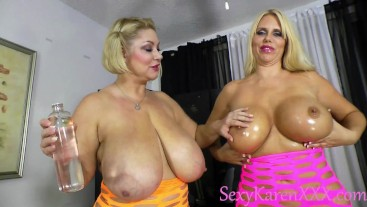 Karen Fisher and Samantha 38G Take Turns Fucking Each Other with Strap On
