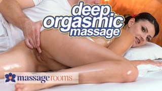 Massage Rooms Deep sensual orgasms for petite Czech babe Tiny Tina