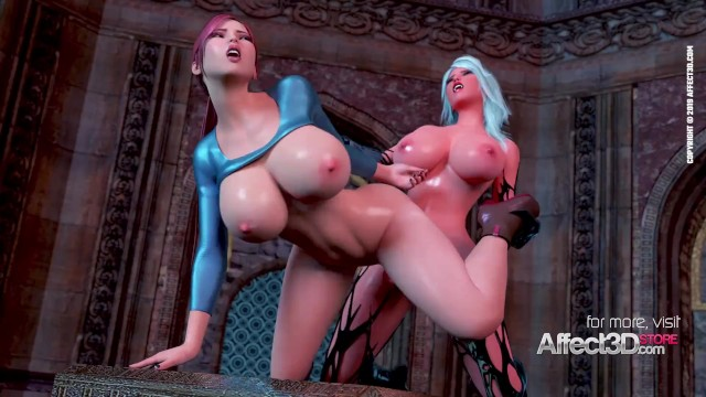 3d train hentai Big tits babe awakening the futanari demon in a 3d animation