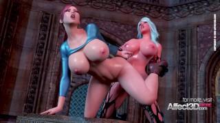 Films porno - Affect 3D Gros Seins Babe Réveillant Le Démon Futanari Dans Une Animation 3D