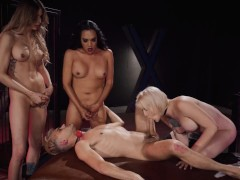 Transangels - Sissy gets dominated by group of Trans