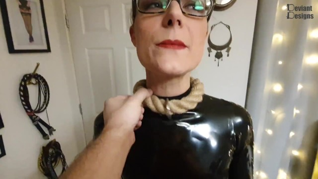 Necklace collar for bdsm Rope collar