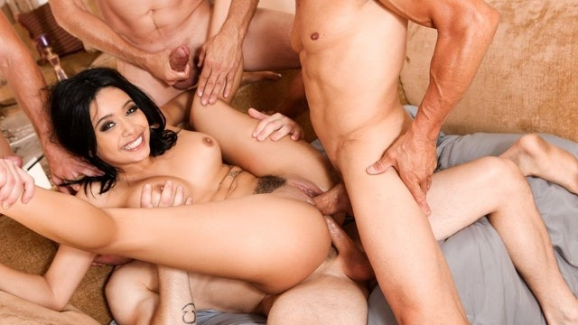 Ebony interracial dp - Devils gangbangs aaliyah hadid rough dp crazy fuck - full scene