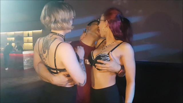 Prague erotic club - Sheri talaini in erotic kissing with girls of paris club