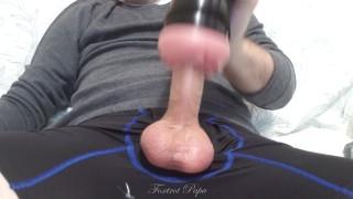 Stroking BIG Cock with Riley Reid toy Reverse Cowgirl, big cum shot - Cum iXXX