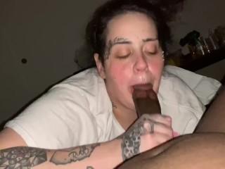 Sucking a big black dick