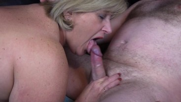 British Mature Sloppy Blow Job and a mouthful of Hot Cum