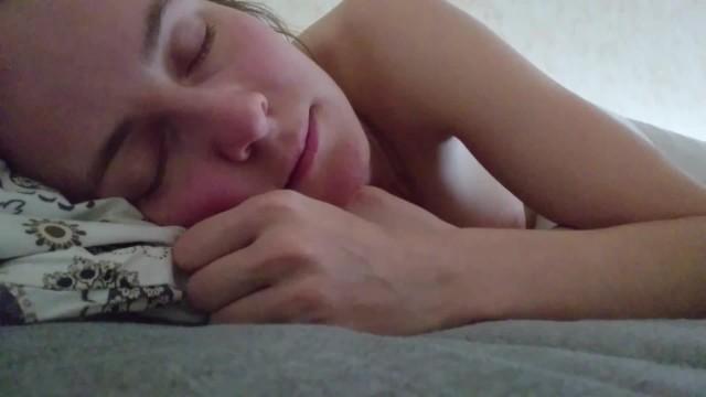 Sleepy lesbian - Sleepy sweet babe videomessage to her stepdaddy