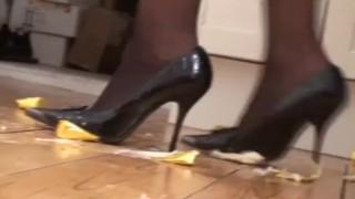 foot femdom girls enjoy to crush everything