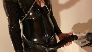 femdom pegging and whipping by hot smoking mistress
