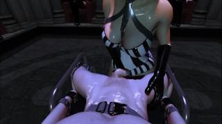 Citor3 SFM VR XXX Games Latex Mistress Tessa milks through prostate/training