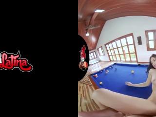 VRLatina – Super Hot Teen Fucks On Pool Table -VR Experience