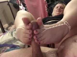 Bbw foot job