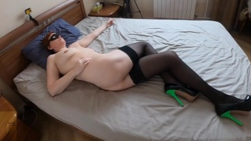 Watching crossed leg orgasm and leg humping goes to cum on tits