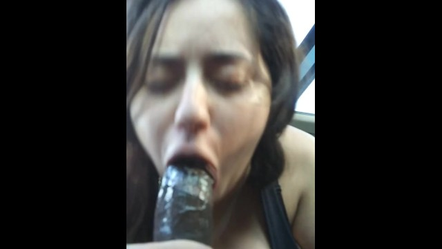 Car fuckers - Gagging sloppy car head at the park throat fuck