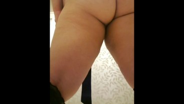 fat slut in public bathroom