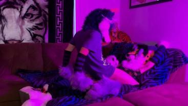 Wuffles Riding His Cheetah (Fursuit Yiff)