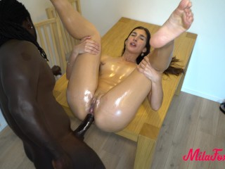 WOW! My first BBC! Freddy Gong Blacked. Anal. MilaFox. 4K