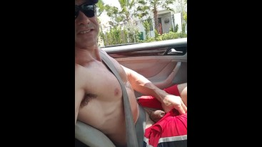 Driving Without Shirt and Showing Soft #2 --Eden Adonis