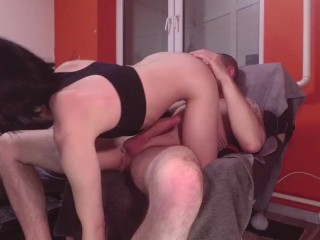 CUM to her FACE after a hot long RIMMING POV scene