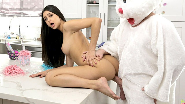 Penis much bigger than my husbands - Step sis its so much bigger than i imagined easter bunny fuck