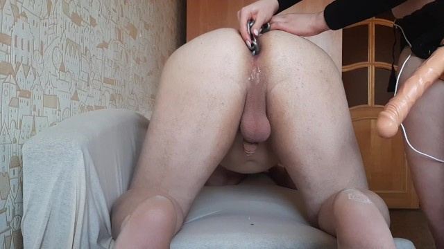 Hide and go anal - The guy is flowing when i put him in the anal chain pegging