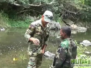 Military latin twinks outdoor blowjob