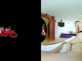 VRLatina – Naturally Beautiful Teen 1st Porn – VR Experience