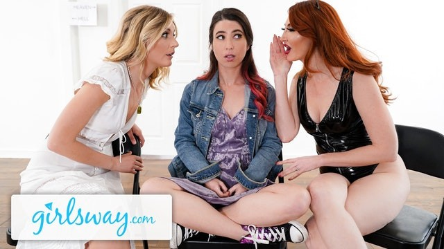 Escort board heaven or hell Girlsway fight turns into amazing threesome in purgatory. hell or heaven
