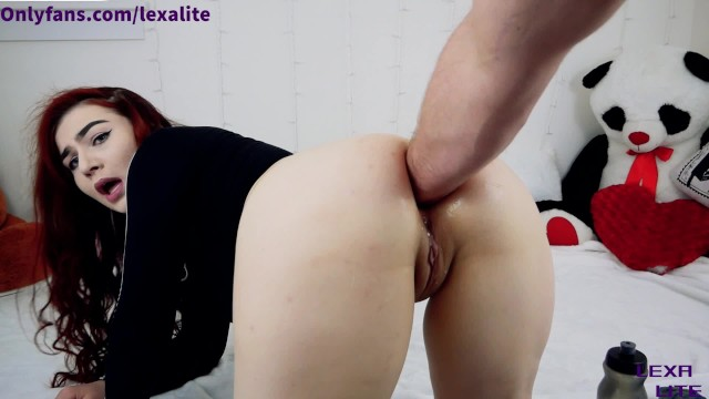 Handcuff fisting Lexa lites first hardcore painal fisting with huge gaping ass