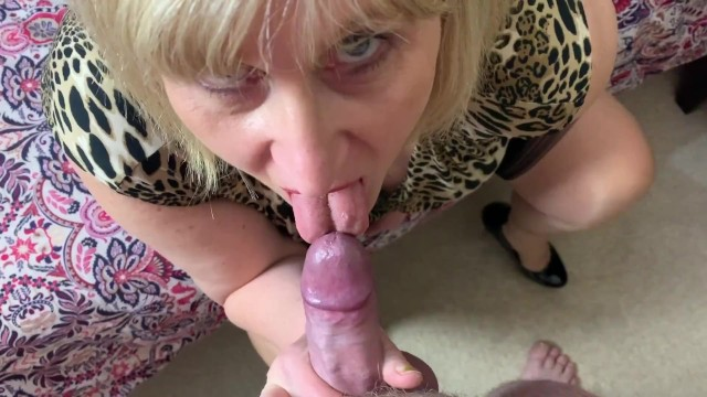 Women in hosiery giving blow jobs Big tit hot mature step mom in stockings gives blow job and fucks pov