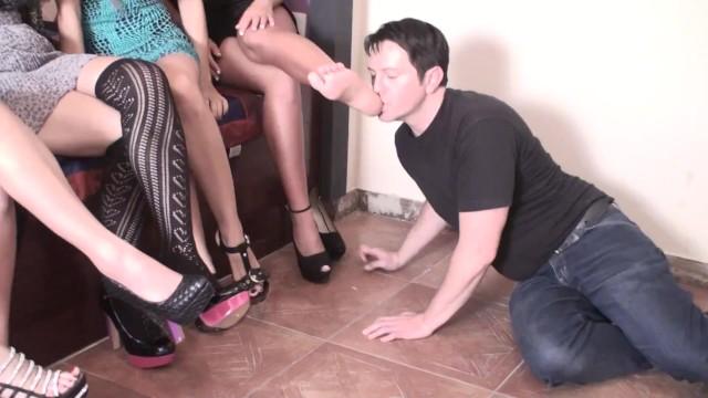 Glamour babes bdsm Sadistic glamour girls order guys to feet licking
