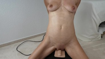 My first DP on the sybian let me cum soo crazy
