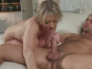 Big Tit Milf Dee Fucks Sybian And Step Son For Cum On Tits