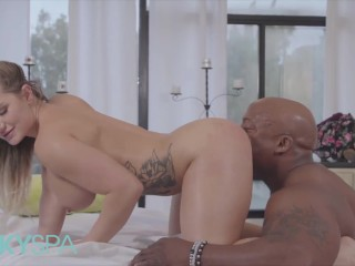Kinky Spa – Curvy Blonde Cali Carter Gets Stretched By A BBC