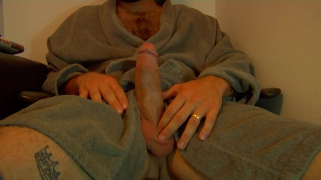 Nude hairy male - Hung hairy daddy in robe fleshlight fuck huge load