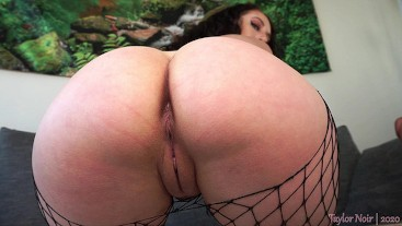 Dildo Riding & Squirting in Fishnet Stockings
