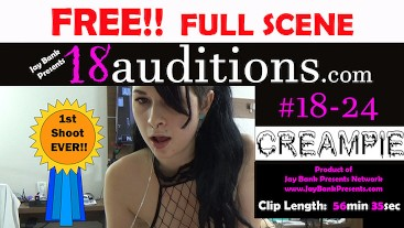 Young 18yo Rough Teen Creampie FREE FULL SCENE! 18auditions x Jay Bank