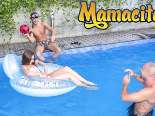 Chicas Loca - Russian Teen Stacy Snake Pool Party Threesome - MAMACITAZ