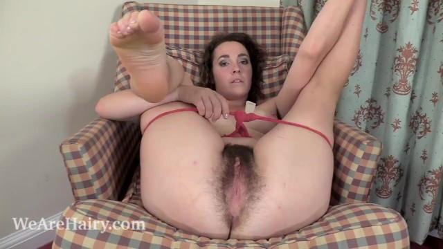 Wife hairy naked - Lola wilde strips naked on her plaid armchair