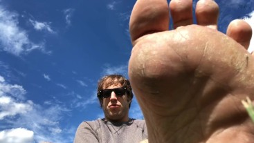POV Alpha Doms Sissy In Park With Foot Worship