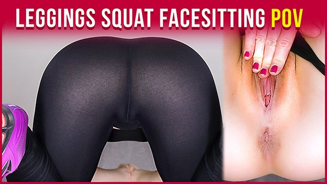 Nude squat pose - My workout - doing squats in leggings and naked facesitting pov era