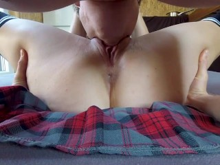 Pussy and Clit Licking Amateur Strong Orgasm 4K POV CLOSE UP