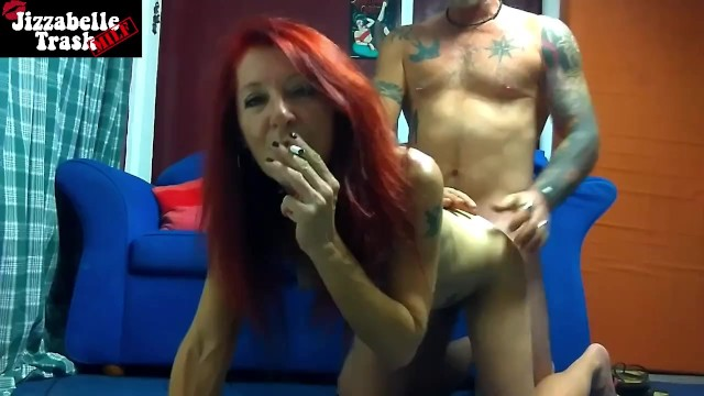 Lack of facial expression - Redhead milf smoking close up facial expression doggy style hard fuck