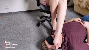 SCHOOLGIRL FEMDOME SLAVE SUCK MISTRESS TOES AND LICK PERFECT FEET AFTER GYM